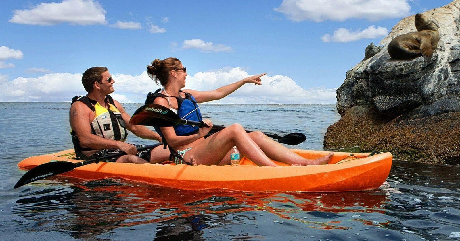 """2 Tandem Kayak Two On Seats 10'-6"""" HDPE Lifetime Kokanee"""