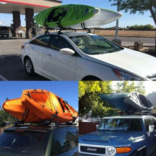 Pair Canoe Boat Roof SUV Top Carrier Bar USA