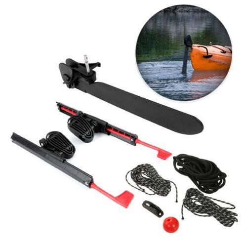 2 x Adjustable Locking Foot Pedals Braces Tail Rudder Kayak