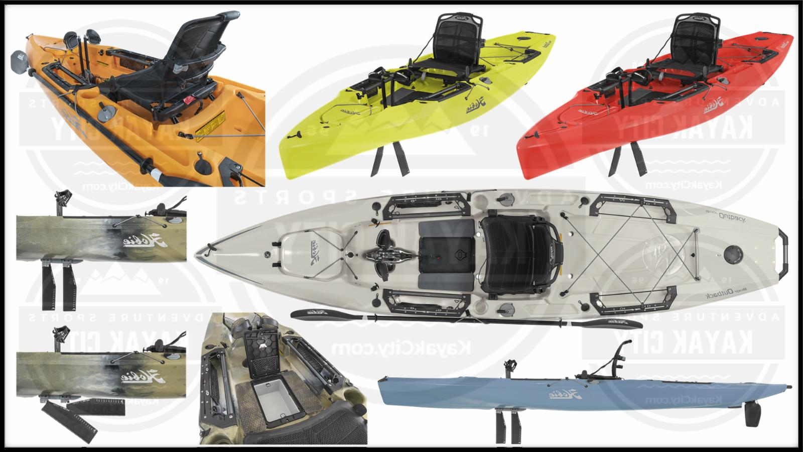 2019 mirage outback pedal fishing kayak multiple