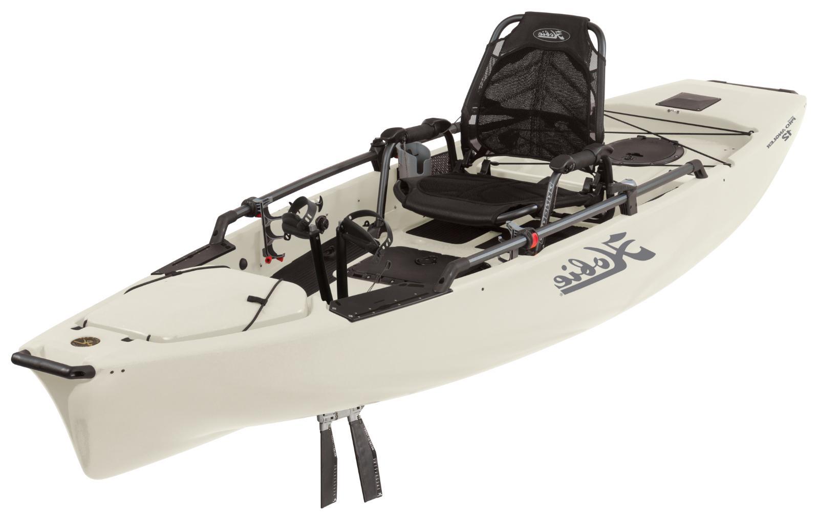 2019 Hobie Mirage Pro Angler 12 Fishing Kayak   Ivory Dune