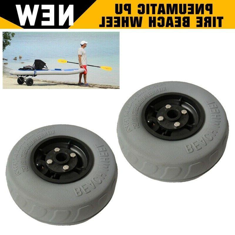 2pcs Kayak Beach Pneumatic Tire Wheel
