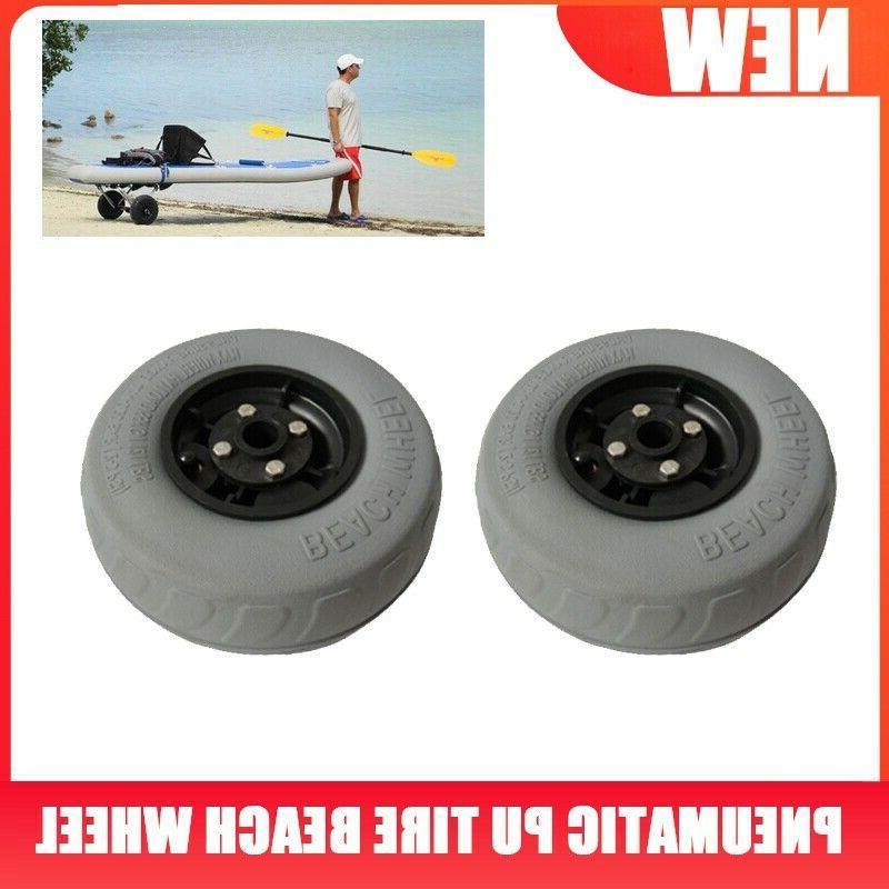 2pcs Kayak Beach Trolley Pneumatic Tire Beach Wheel