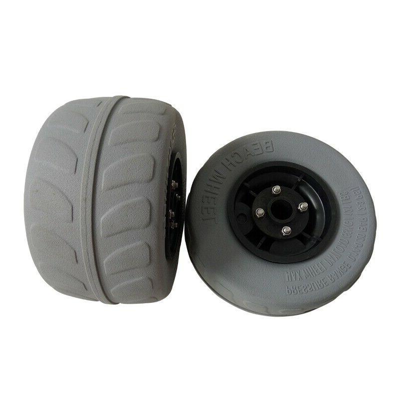 2pcs For Cart Beach Trolley Tire Wheel Balloon Wheel