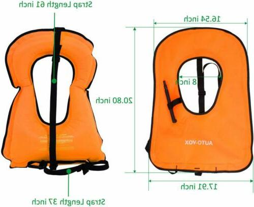 2xPack Adult Inflatable Life Snorkeling Jacket Swimming Kayaking