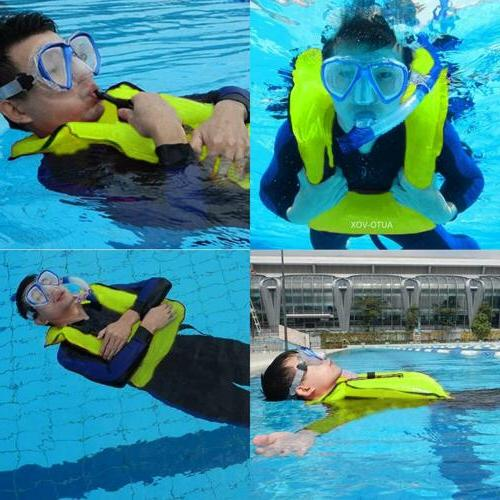 2xPack Adult Inflatable Life Snorkeling Vest Jacket Swimming Kayaking Surfing