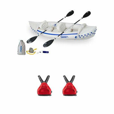 330 inflatable kayak w nrs small medium