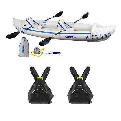 330 inflatable kayak w nrs large xlarge