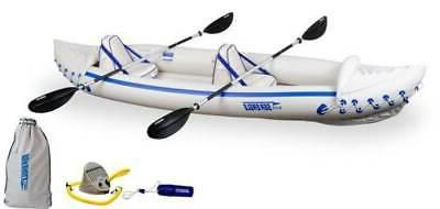 370 professional 3 person inflatable sport kayak