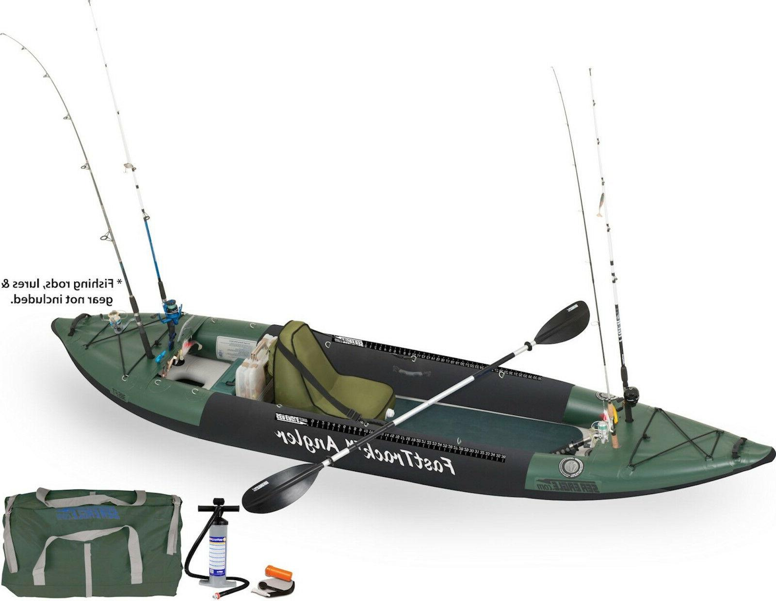 385fta fast track inflatable fishing kayak deluxe