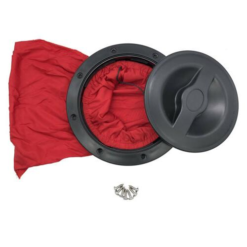 6 Inch Marine Boat Kayak Hatch Cover Deck Plate Kit Red Stor