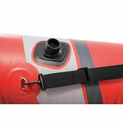 Intex Inflatable Person Kayak with Oars Pump, Red