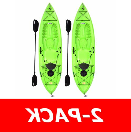 90643 Lifetime Tioga 120  10' Sit on Top Fishing Kayaks + 2