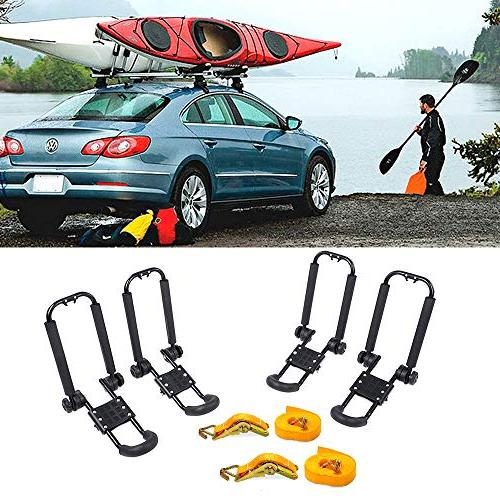 AA-Racks Rack Roof with Straps Tie Ratchet,Folding Carrier for SUP and SUV Truck