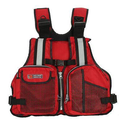 Adult Adjustable Life Vest Marine Reflective Sailing Kayak