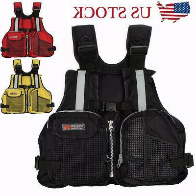 adult adjustable life jacket vest marine reflective
