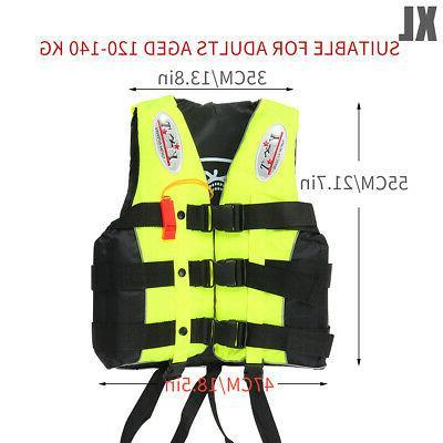 Adult Safety Jacket Aid Boating Kayak Fishing