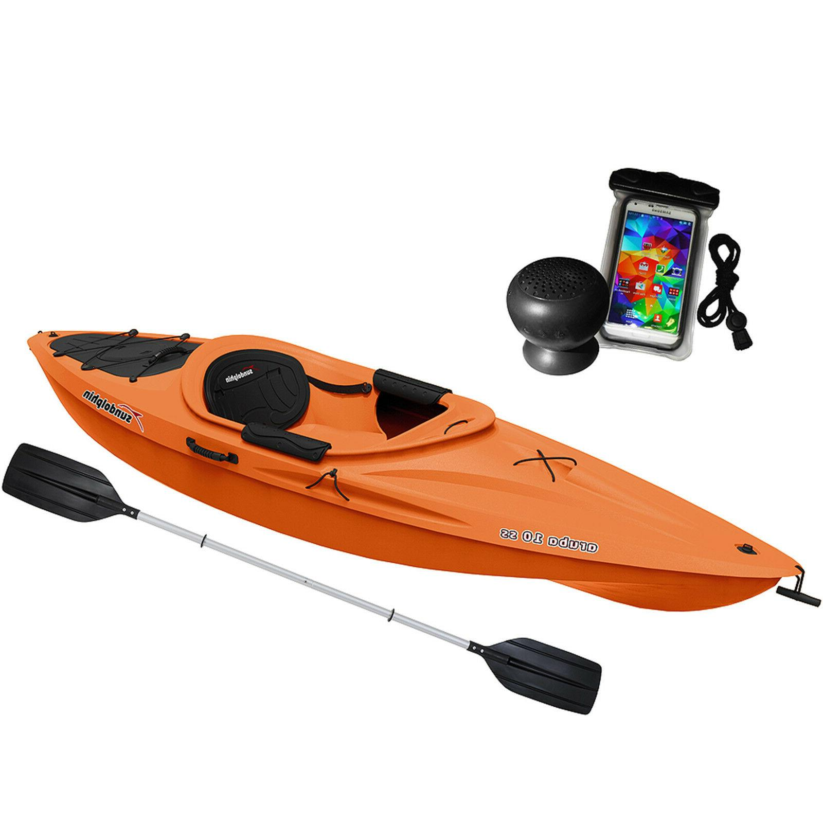Sun Dolphin Aruba 10 SS with Speaker and Bag Paddle Included