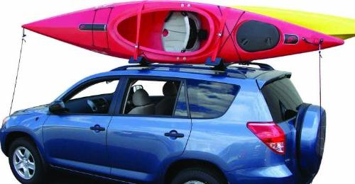 Malone AutoLoader Universal Rack Kayak Carrier with Stern Lines