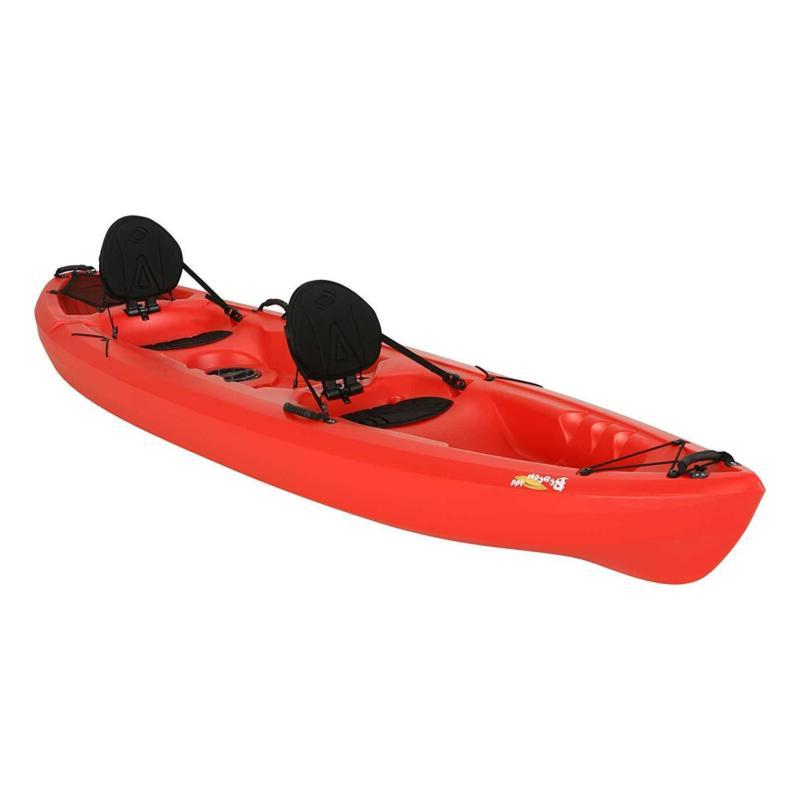Lifetime Beacon Tandem Red 12 Rivers Ocean 2 Seat Storage