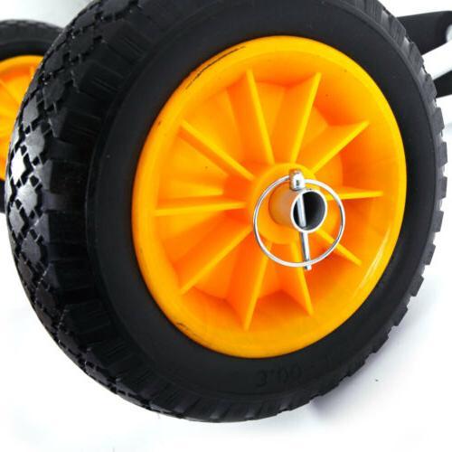 Bend Carrier Trolley Transport Cart Wheel Yellow