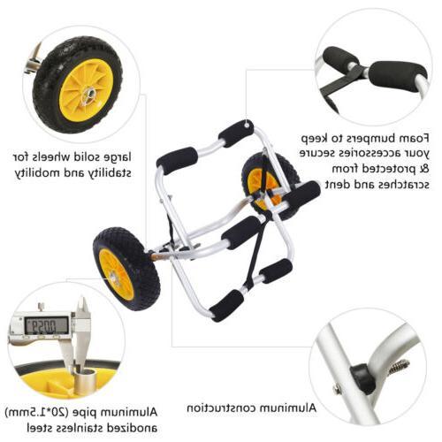 Bend Kayak Canoe Carrier Trailer Transport Wheel Yellow
