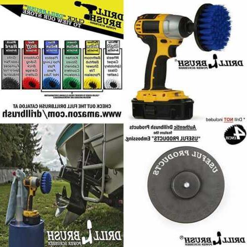 boat accessories marine drill brush 4 diameter