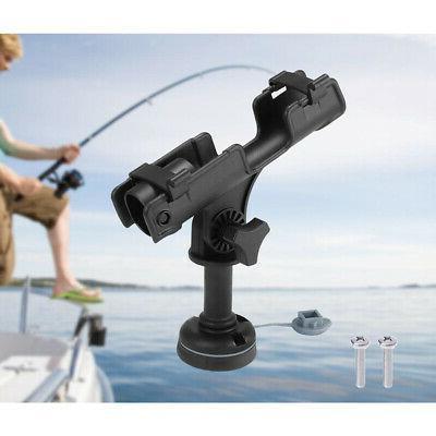 Boat Yacht 360 Deg Swivel Fishing Rod Holder Stand Mount