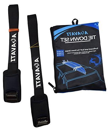 car surfboard tie down set