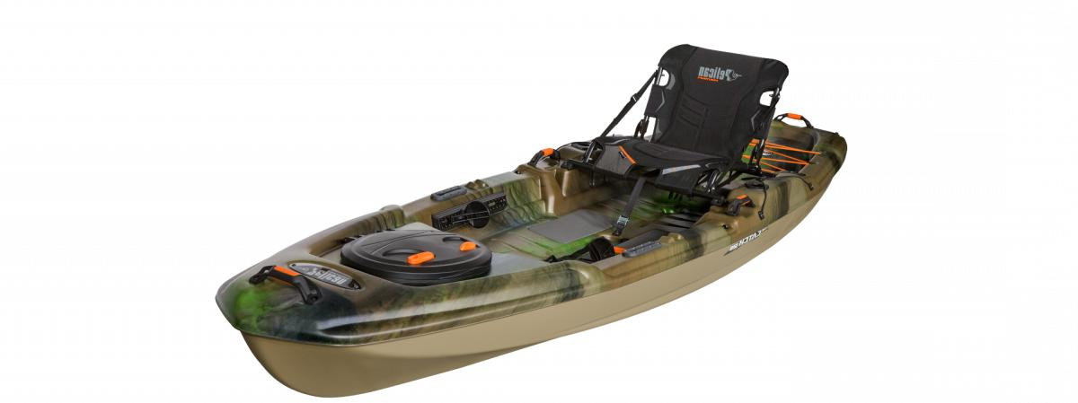 catch 120 fishing kayak olive camo light