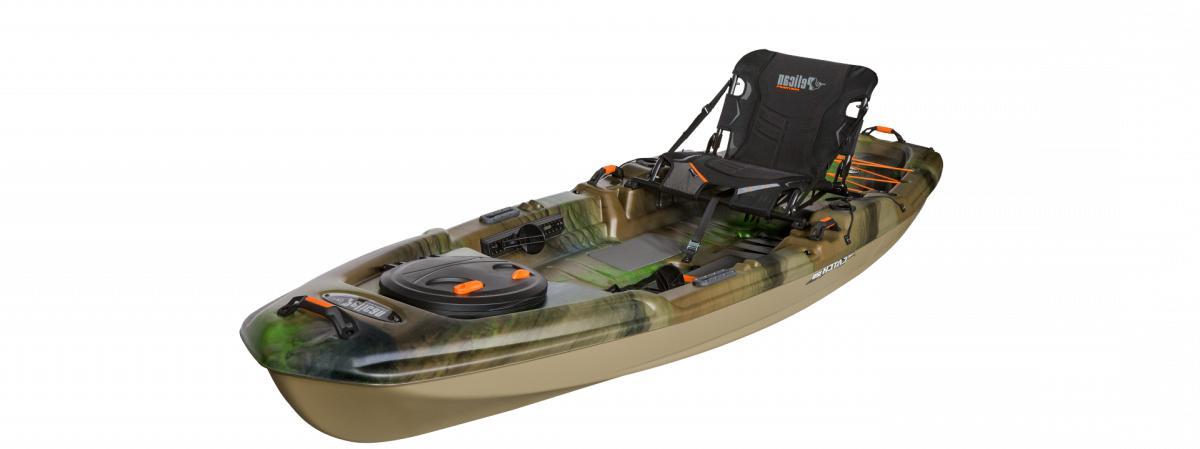 catch 120 fishing kayak olive camo light