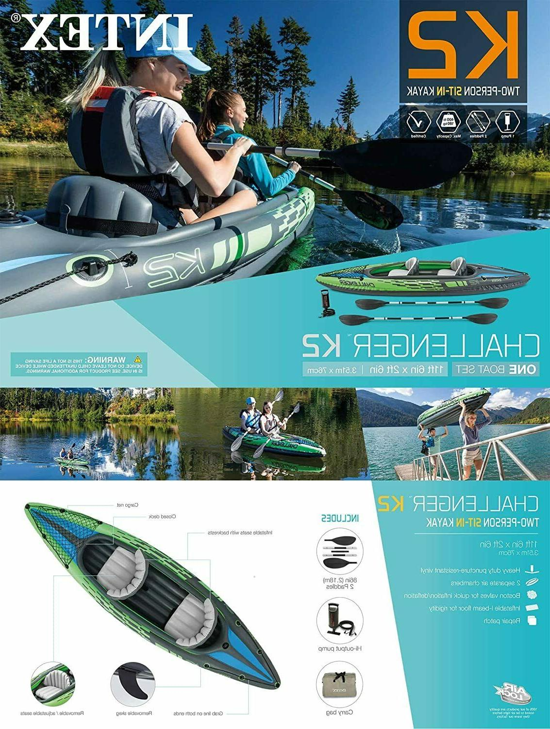 Intex Person Inflatable w/ Oars Pump NEW❗SEALED❗