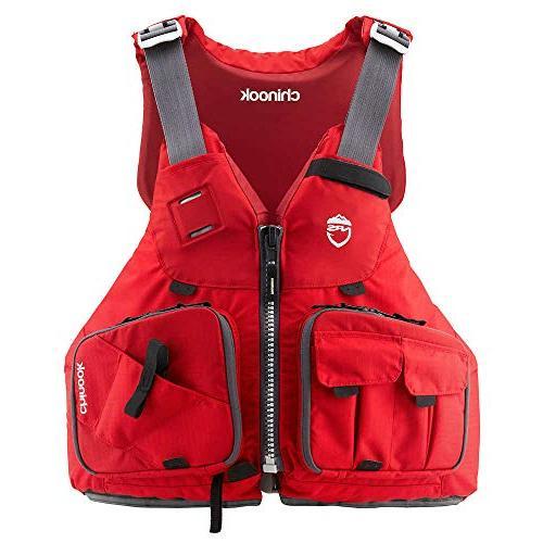 chinook fishing kayak lifejacket red