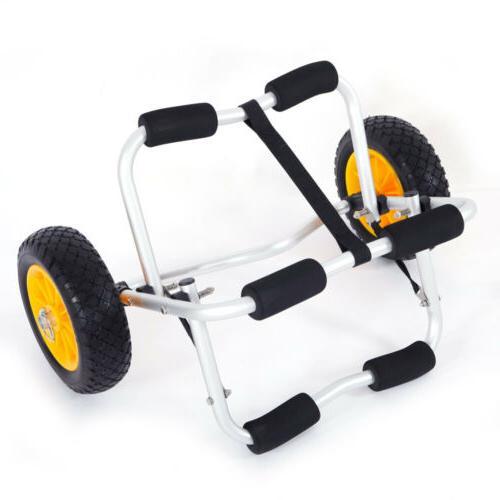 Deluxe Kayak Canoe Carrier Trailer Trolley Transport Cart Wheels