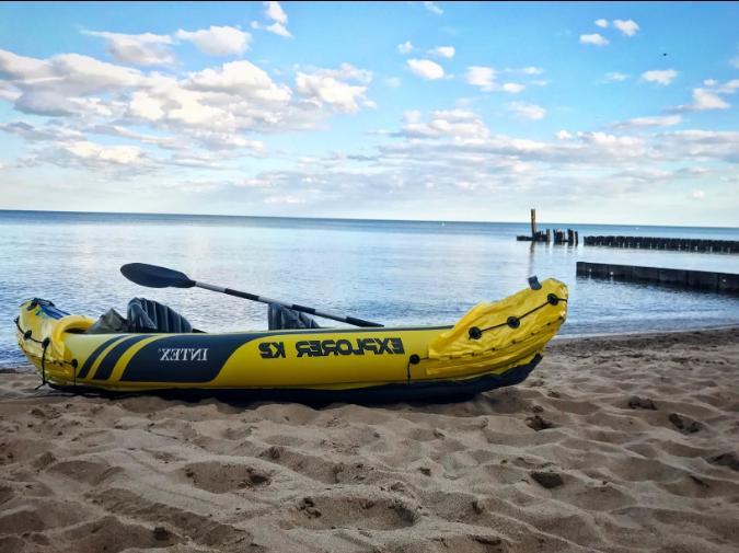 explorer 2 person inflatable kayak set