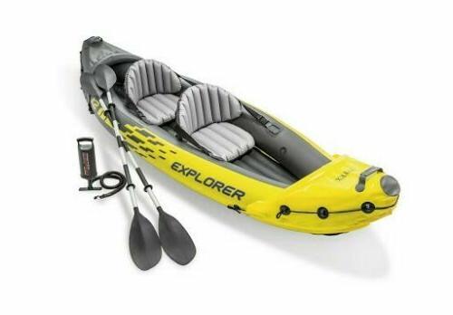 explorer k2 2 person inflatable kayak new