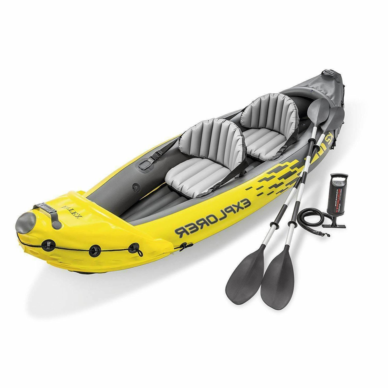 🔥 Intex Explorer K2 Kayak 2-Person Inflatable Set + Oars