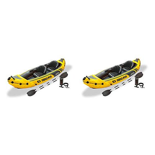Intex Explorer K2 Yellow 2 Person Inflatable Kayak with Oars
