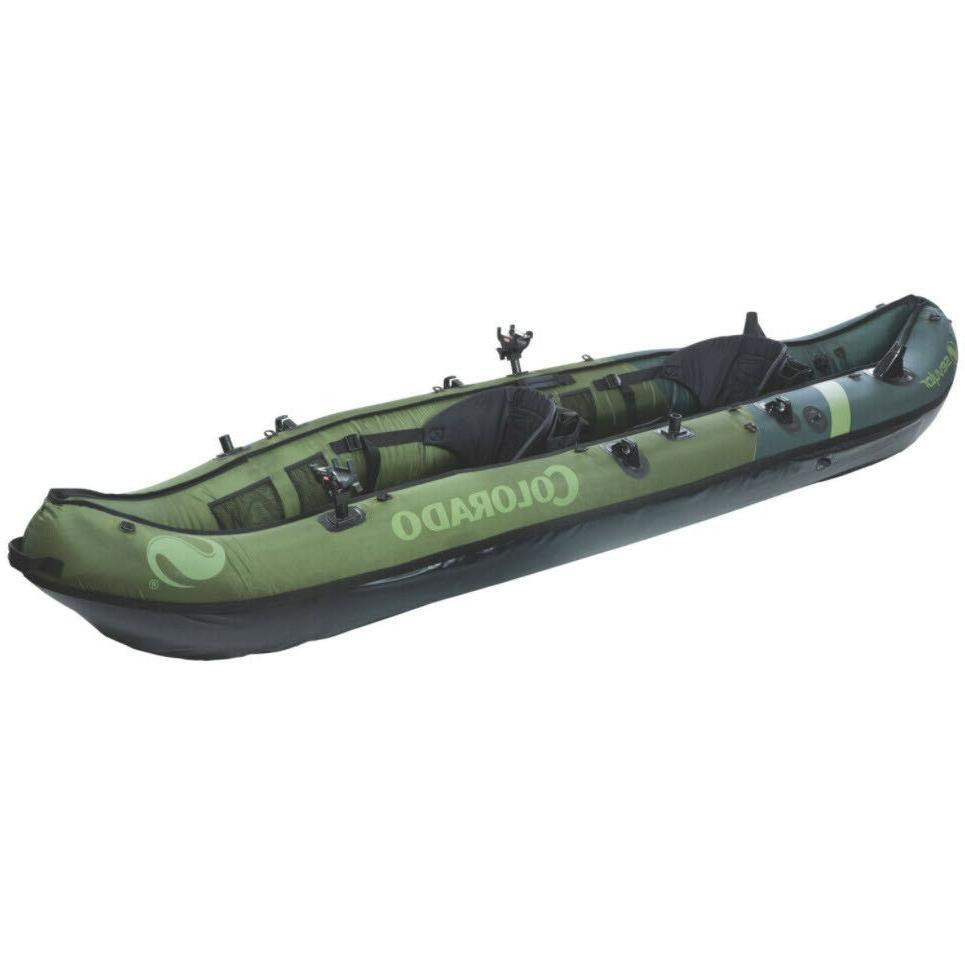 fishing kayak 2 person inflatable 18 gauge