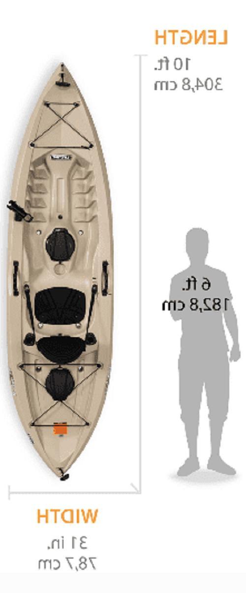 Fishing Kayak w/Paddle Ft Lifetime 100, Made