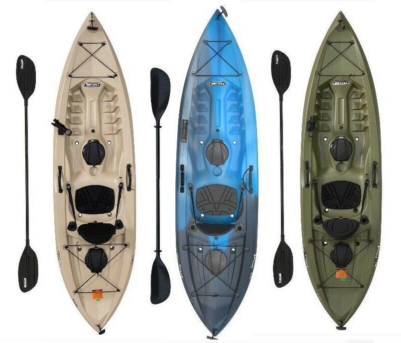 fishing kayak w paddle 10 ft tamarack