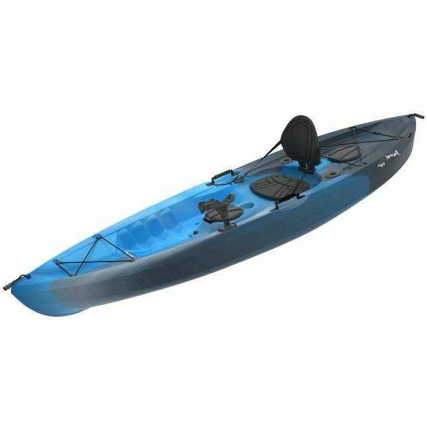 Fishing Kayak w Adult Sit On Padded Storage Pole Rod Flat