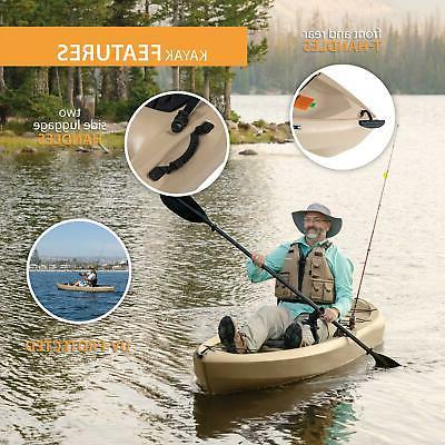 Fishing Kayak with 10 Lifetime Tamarack Angler 100 Multiple