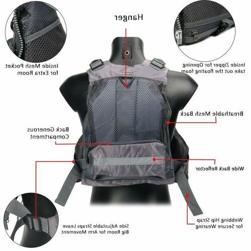 Fly Vest,Fishing Safety Life Mesh Kayak