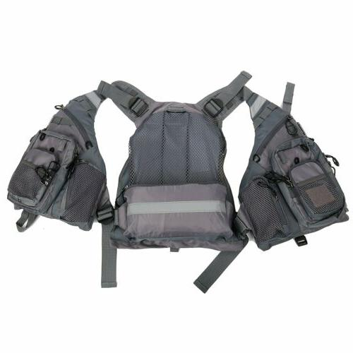 Fly Fishing Safety Life Jacket Breathable Polyester Mesh Kayak