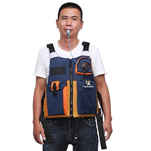 Kylebooker New Outdoor Fly Fishing Kayak Life Safety Waistcoat Vest