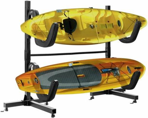 VIVOHOME Freestanding Two Dual Kayak Rack Stand Canoe Carrie