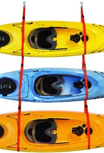 Garage 3 Kayak Storage System Rack Sling Three