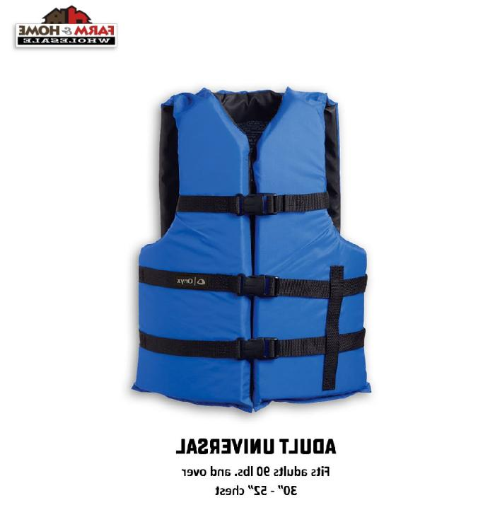 ONYX Adult General Purpose Life Vest, Blue, Oversize