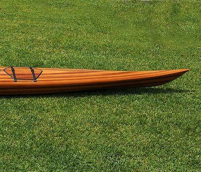 Hudson Kayak Wood Strip Built Surfing Boat New